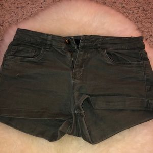H&M Olive Jean Shorts